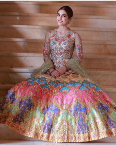 Gorgeous Maya Ali shines in Nomi Ansari couture at a day